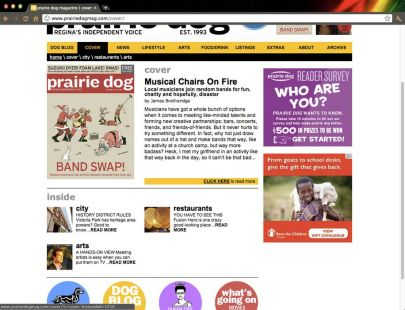 Website design – created at Prairie Dog Magazine