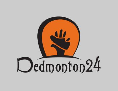 Dedmonton24 logo for a 24 hour footrace in Edmonton, Alberta.
