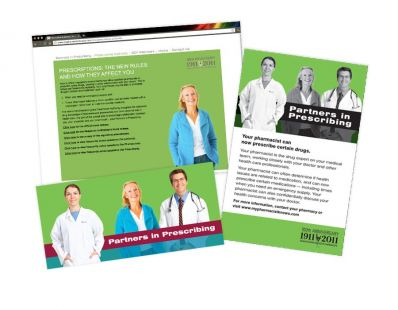 Saskatchewan College of Pharmacists Campaign materials – created at Tap Communications